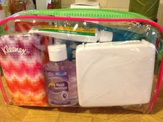 Another Kits for Kids idea! First aid. Perfect for the kid on the go. Plastic bag, mini first aid kit (includes basic first aid items), instant cold compress, Kleenex (for those tears), hand sanitizer, and antibiotic cream. Inspired by bhg.com.