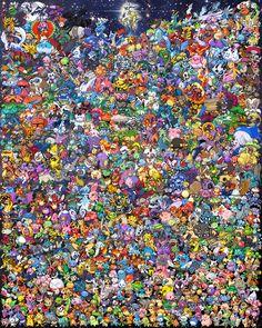 Pokemon huge cross stitch pattern!