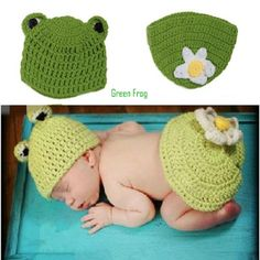 Latest Crochet Frog Hat&Flower Butt Cover Set For Newborn Baby Animal Photography Props Baby Frog Costume Frog Shower Gift Animal Costumes, Baby Costumes, Crochet Frog, Hand Crochet, Frog Costume, Super Mario, Crochet Animal Hats, Accessoires Photo, Crochet Photo Props