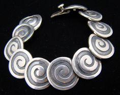 Bracelet   Los Castillo.  Sterling silver.  ca. 1940s, Taxco