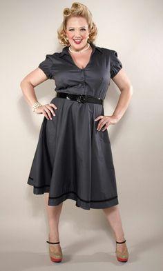 Plus size gray dress