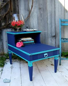A Side Tableu0027s Colorful Makeover