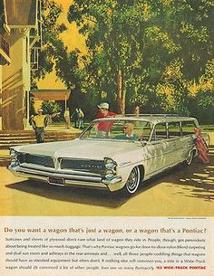 """paperink id: ads8013 Pontiac Station WAGON Golf Club 1963 AF/VK Art Fitzpatrick and Van Kaufman Print AD This is an ORIGINAL PERIOD Magazine Advertisement measuring approximately 10.5"""" x 13.25"""". AD is"""