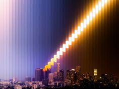 Für seine Timeslices genannten statischen Zeitraffer macht der Kalifornier über einen längeren Zeitraum Bilder desselben Motivs, die er anschließend per Photoshop und AfterEffects zusammenfügt.