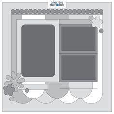 Weekly Sketch Round-Up Nov. Scrapbook Frames, Scrapbook Layout Sketches, Scrapbook Templates, Card Sketches, Scrapbooking Layouts, Scrapbook Cards, Creative Memories, Overlays, Kiwi Lane Designs