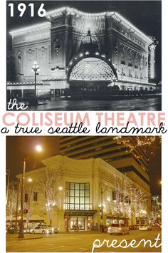 History of the amazing Coliseum Theater in downtown Seattle. Seattle Street, Downtown Seattle, Seattle Area, Seattle Today, Washington State History, Seattle Washington, Seattle Neighborhoods, Seattle Homes, Lake Union