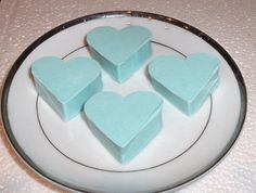 100 Sky Blue Love heart Soaps. Lily Scent. BULK hand Made Soaps. Guest, Salon Business Supplies. Hotel SPA baby shower Wholesale.