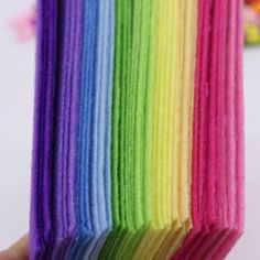 40pcs Soft Felt Fabric Sheet Rainbow Series 1mm Thick Pack Diy Craft Sewing Squares Nonwoven Patchwork 10cm X 15cm