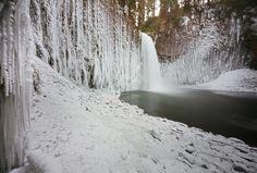 abiqua falls, winter study | by manyfires