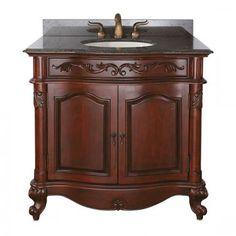 Avanity Provence (single) 36-Inch Antique Cherry Traditional Bathroom Vanity