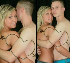 Hilariously Distressing Couple Tattoos  These are permanent, folks. I think this is worse than getting a name tattoo. Lmao