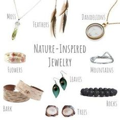 If you love nature and you love jewelry, then there's no question about it - you'll love these nine handmade pieces of nature-inspired jewelry! Handmade Bracelets, Earrings Handmade, Handmade Jewelry, Feather Earrings, Leaf Earrings, Dandelion Necklace, Couple Necklaces, Eco Friendly Fashion, Nature Inspired