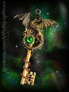 Earth Dragon Lord Fantasy Key