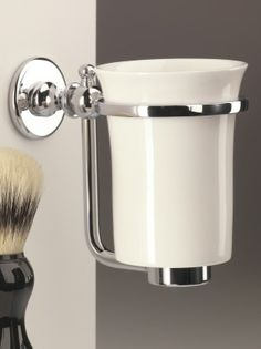 Classic ceramic tumbler and holder. Bathroom accessories made in England. http://www.priorsrec.co.uk/classic-ceramic-tumbler-and-holder/p-41-43-166