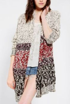 Urban Outfitters- Ecote Intarsia Cozy Cardigan