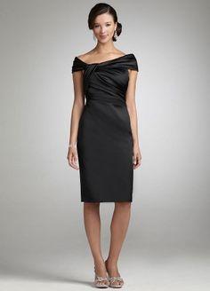 Amazon.com: David's Bridal Bridesmaid Dresses Short Stretch Satin Off the Shoulder Dress Style 84738: Clothing
