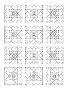 Coloring Book Of Quilt Blocks And Designs