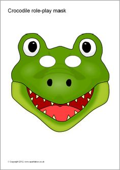 Crocodile role-play masks