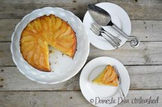 Domestic Diva - Pear Upside Down Cake. Recipe caters for dairy free and gluten free.