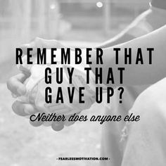 Never give up!!!!!
