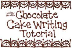 Chocolate Cake Writing Tutorial