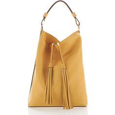 Marni Dawn Large Tassle Hobo Bag (9.060.305 COP) ❤ liked on Polyvore featuring bags, handbags, shoulder bags, brown shoulder bag, hobo shoulder handbags, hobo handbags, studded purse et fringe shoulder bag
