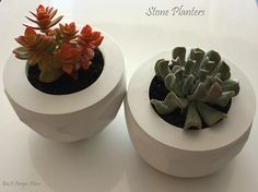 cast stone planters Stone Planters, Planter Pots, Cast Stone, Succulents, Plants, Design, Home Decor, Decoration Home, Room Decor