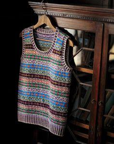 Fair Isle pullover vest