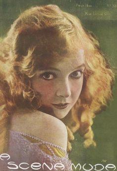 Lillian Gish on the cover ofA Scena Muda, 1921