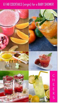 Sensational Cocktails Without The Alcohol For A Baby Shower!   Unique Party  Ideas