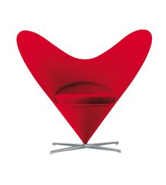 VERNER PANTON-Heart Cone Chair Red