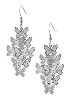 Butterfly Chandelier Earrings