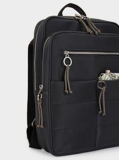 Mochila Com Bolsos Exteriores, Preto I Can Change, Exterior, Pocket Detail, Backpacks, Belt, Black, Handbags, Belts, Women's Backpack