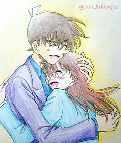 Ran And Shinichi, Kudo Shinichi, Magic Kaito, Detective Conan Ran, Fleet Of Ships, Detektif Conan, Detective Conan Wallpapers, Case Closed, Cartoon Characters