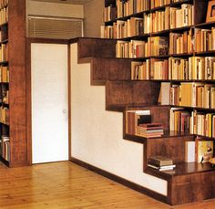 actually the stairs itself can be a great shelves ;)