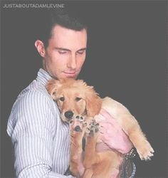 3. That time he held his new puppy Charlie…. | Community Post: 28 Times Adam Levine Proved He Was The Sexiest Man Alive