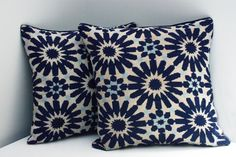 Throw pillows are timeless must-haves in every home, instantly add sophistication and warmness to your sofa and upgrade your interior's look, be it a living room or a bedroom. This unique pillow cover is handmade by the women of Beirut #ShopForACause, a beautiful addition to your home. Also a perfect birthday gift for that special someone who just loves cross stitched items, following the geometric ornamental pattern: 100% cotton threads of navy blue, light blue and ecru