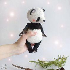 Panda Bear Boo  6inch by KittyAprilHandmade on Etsy