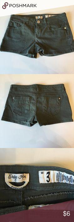 Super cute olive shorts. Worn once. Indigo Rein Shorts