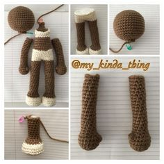 Working on a new design with some left over @redheartyarns in Cafe Latte! Is it me or does she look like she's getting ready for something…