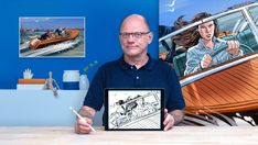 Ilustración de storyboard con Procreate | Talent Academy Storyboard, Photoshop, Museum Of Contemporary Art, Online Courses, Polaroid Film, Social Media, Teaching, Drawings, Creative
