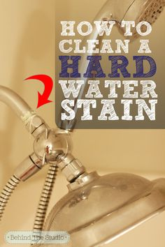 How to remove hard water buildup