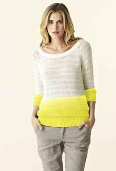 3/4 Slv Raglan Pullover Sweatshirt   Michael Stars