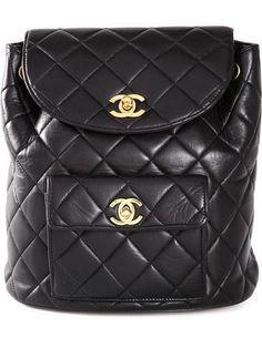 CHANEL VINTAGE quilted backpack #backpack #chanel #designer #covetme #chanelvintage