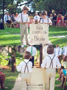 If I know any young ones for any future wedding, I'd love to have that pic done.