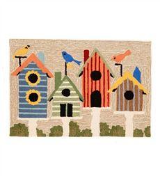 Birdhouses Indoor/Outdoor Rug