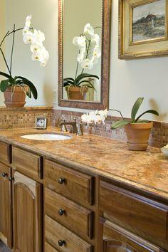 Bathroom - tile backsplash