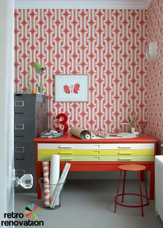 "retro renovation: ""vintage wallpaper designs — the Retrospectives Collection — recently introduced by the company Little Greene."""