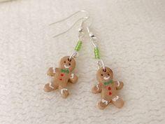 Christmas Gingerbread Men Dangly Earrings £7.99