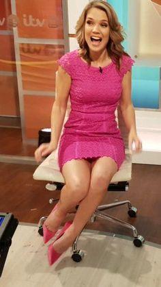 Charlotte Hawkins legs  - Sexy Reds (heels) - #Charlotte #Hawkins #heels #Legs #Reds #Sexy